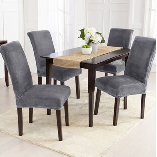 Velvet Plush Dining Chair Slipcover Set Of 2
