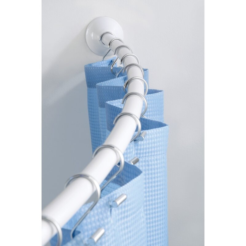 InterDesignWall Mount 72 Adjustable Curved Shower Curtain Rod