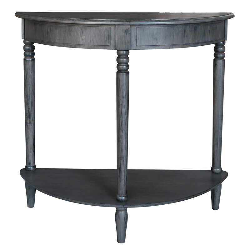 Marvelous Half Circle Coffee Table Part - 10: Half-Circle Wood Console Table