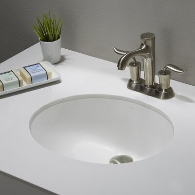 Undermount Bathroom Sink Oval kraus elavo™ oval undermount bathroom sink with overflow & reviews
