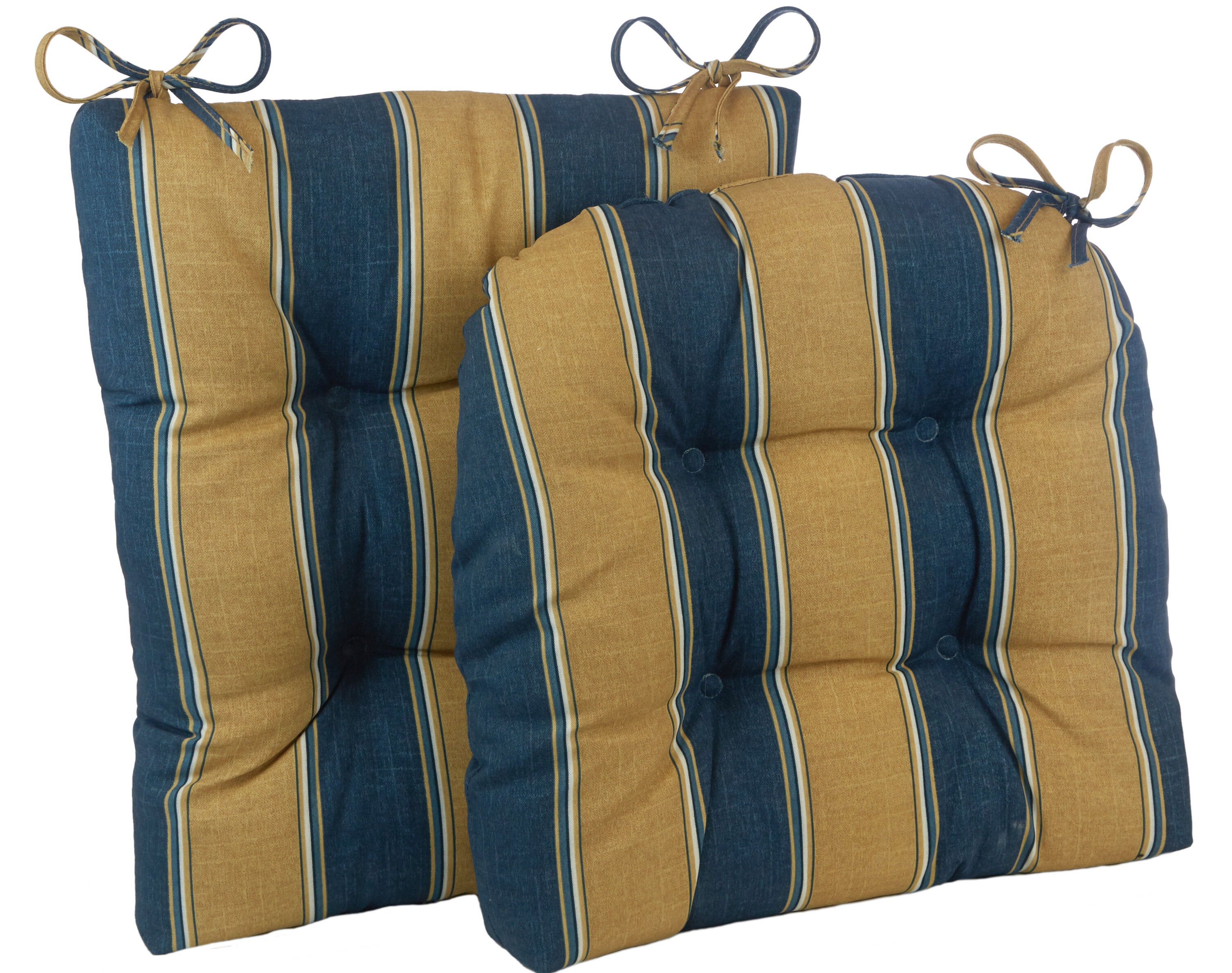 Winston Porter 2 Piece Stripe Porch Indoor/Outdoor Rocking Chair Cushion Set | Wayfair  sc 1 st  Wayfair & Winston Porter 2 Piece Stripe Porch Indoor/Outdoor Rocking Chair ...