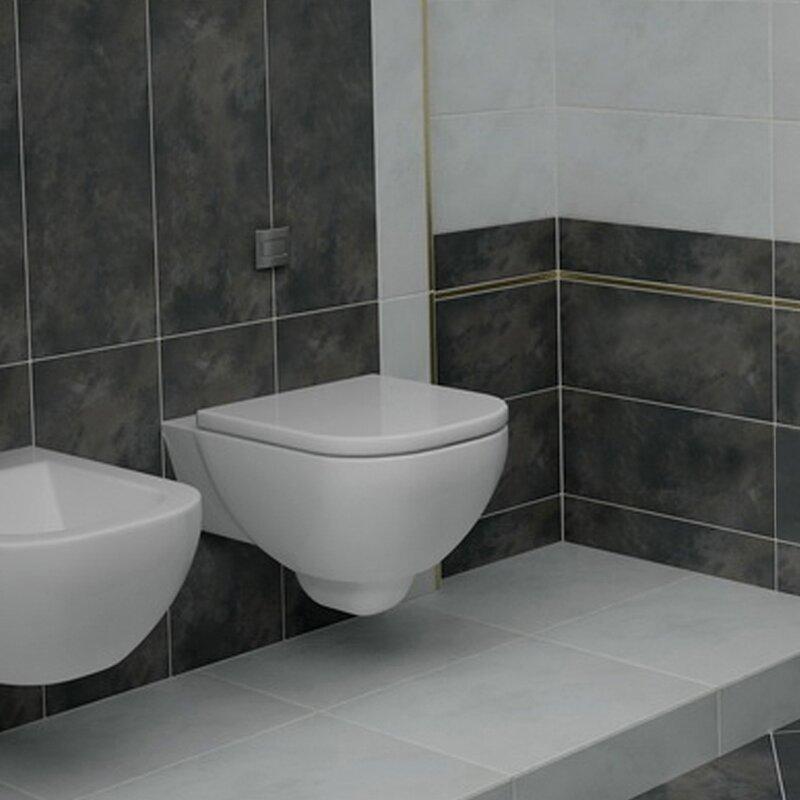Emser Tile Cosmopolitan 12 X 24 Porcelain Field Tile In Charcoal