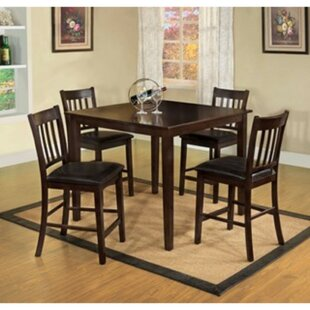 Timberlake 5 Piece Counter Height Solid Wood Dining Set