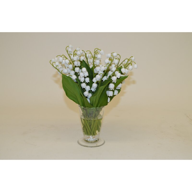 The French Bee White Lily Of The Valley In Parfait Vase Perigold
