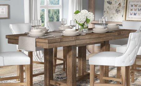Laurel Foundry Modern Farmhouse Hillary Extendable Dining Table