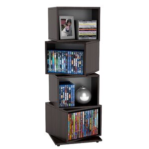 Rotating Media Cube Storage Tower