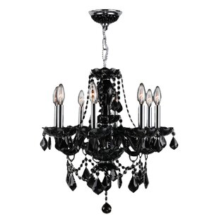 Glass chain chandelier wayfair doggett 8 light chain crystal chandelier mozeypictures Gallery