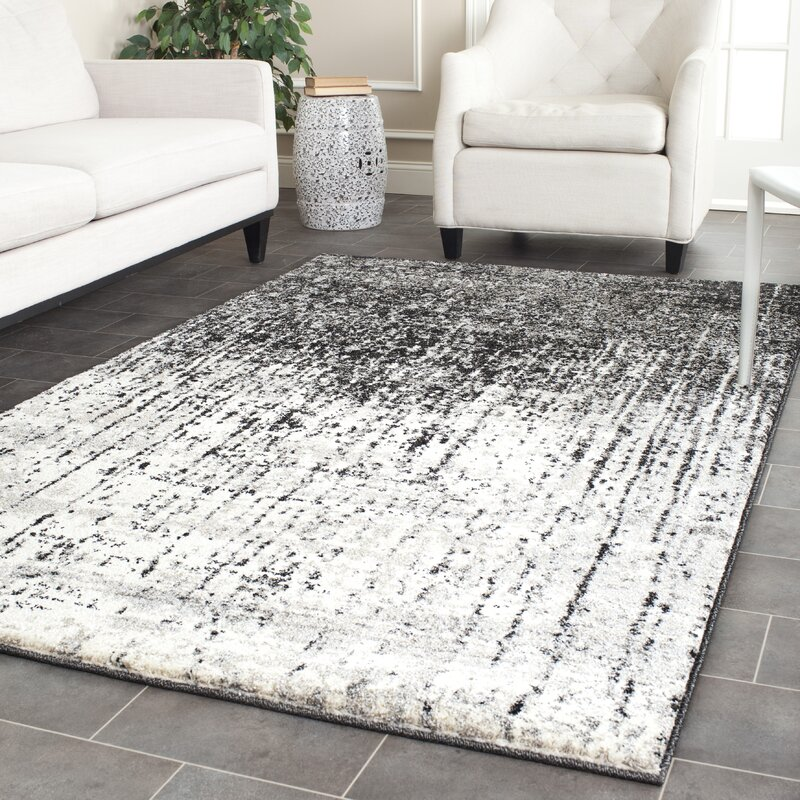 Boson Black Light Grey Area Rug