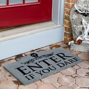 Sweet Home Enter if You Dare Non-Slip Coir Doormat