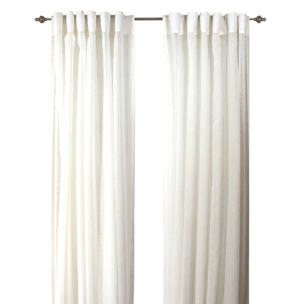 Lark Manor Saint Raphael Solid Semi Sheer Back Tab Curtain Panels Reviews Wayfair