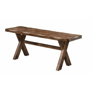 Vansant Trestle Base Wood Bench