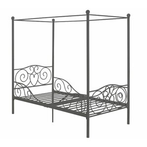 Kacey Twin Canopy Bed by Zoomie Kids