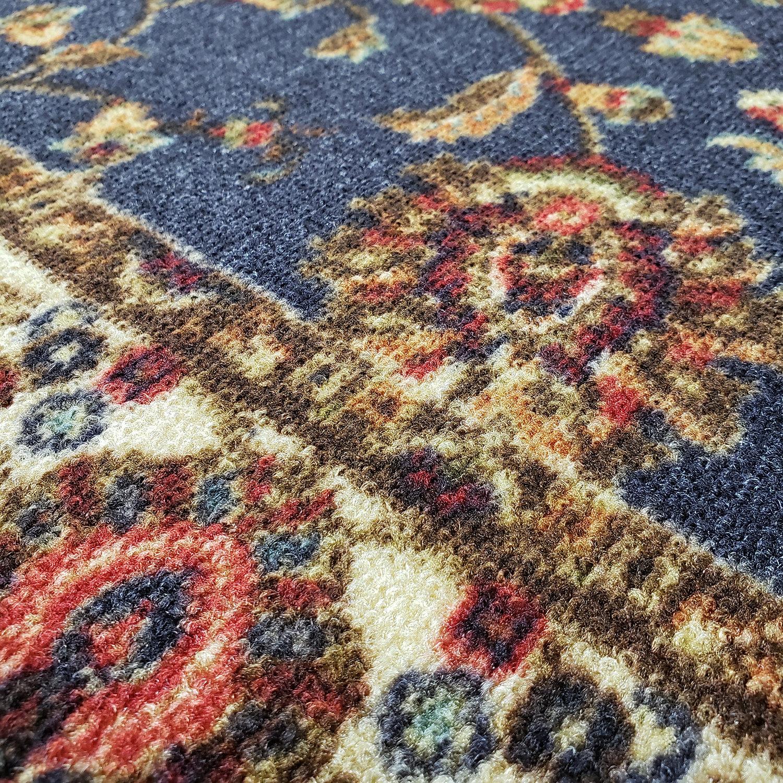 Charlton Home Kinnear Floral Black Area Rug Wayfair