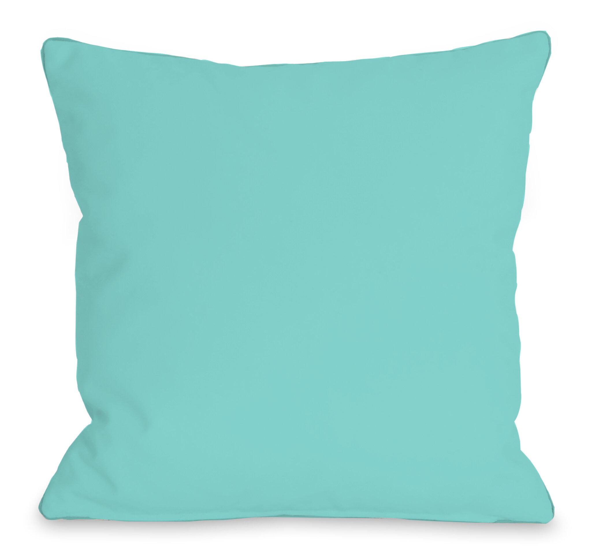 One Bella Casa Solid Outdoor Throw Pillow Reviews Wayfair