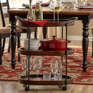 Leslie Bar Cart by Three Posts