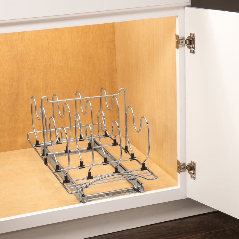 Lynk Professional® Roll Out Cookware Organizer U2013 Pull Out Under Cabinet  Sliding Rack