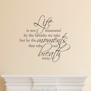 Life Is Not Measured Scriptina Wall Quotes™ Decal