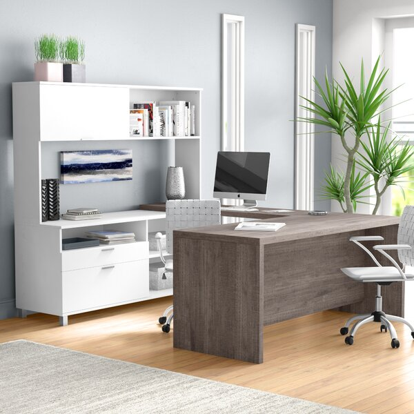Search For Furniture: Mercury Row Ariana 4 Piece U-Shape Desk Office Suite