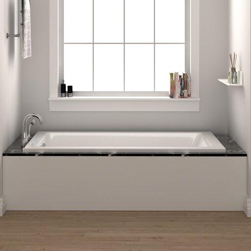 "Fine Fixtures Drop In Bathtub 32"" X 48"" Soaking Bathtub"