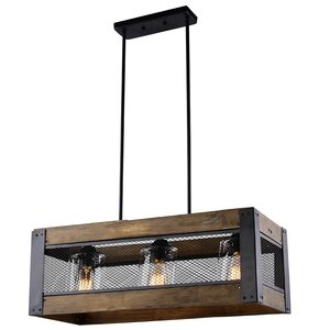 3-Light LED Kitchen Island Pendant