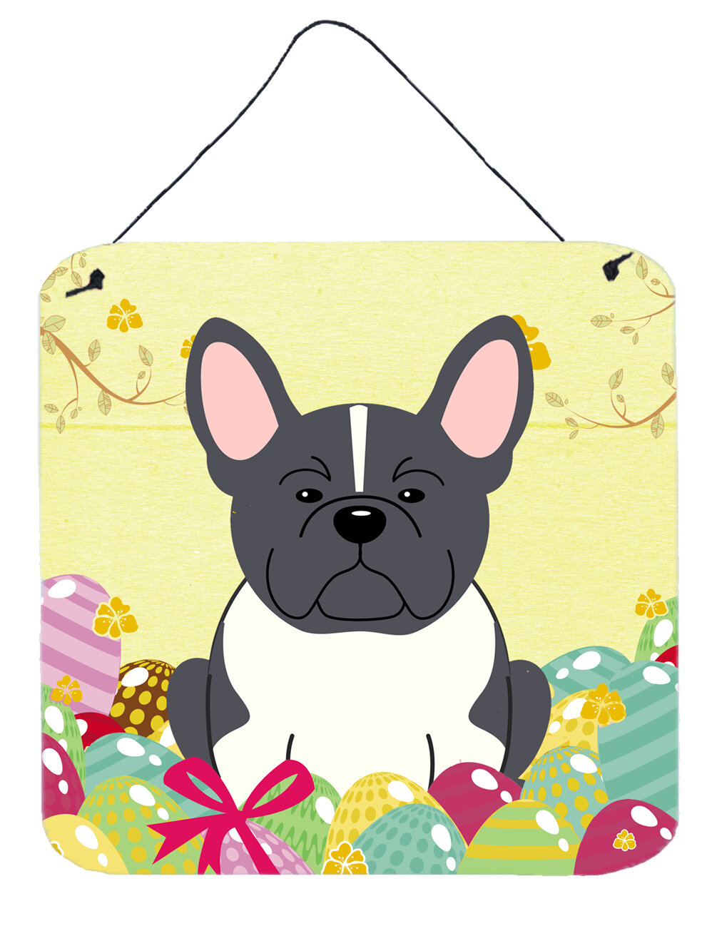 The Holiday Aisle Easter Eggs French Bulldog Metal Wall Décor ...