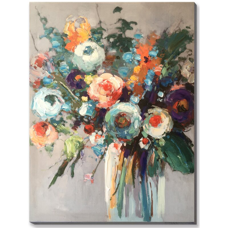 \u0027Bright Floral Bouquet in Vase\u0027 Acrylic Painting Print on Canvas  sc 1 st  Joss \u0026 Main & Bright Floral Bouquet in Vase\u0027 Acrylic Painting Print on Canvas ...