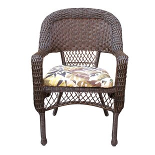 Pellham Resin Wicker Stacking Patio Dining Chair With Cushion