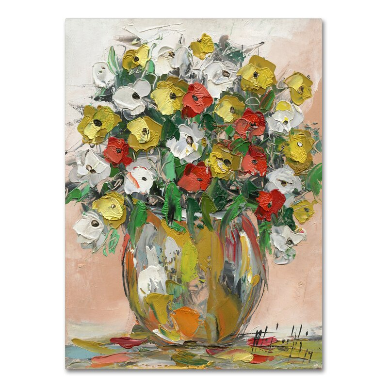 Red Barrel Studio Spring Flowers In A Vase 8 Painting Print On