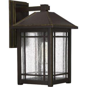 Beams 1-Light Glass Outdoor Wall Lantern