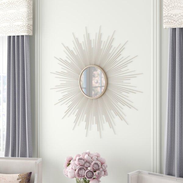 Mercer41 Lathan Rays Sunburst Glam Accent Mirror Reviews Wayfair