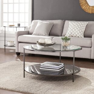 Round Mirrored Coffee Tables Youll Love Wayfair - Wayfair mirrored coffee table