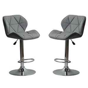 Ousley Adjustable Height Bar Stool (Set of 2) by Brayden Studio