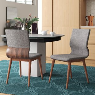 Maston Mid-Century Upholstered Dining Chair (Set of 2)