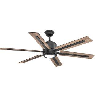 Portable battery fan wayfair lesure 6 blade led ceiling fan with remote aloadofball Gallery