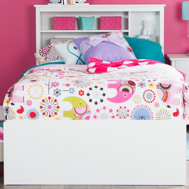 South Shore Vito Twin Mates Captains Bed With Bookcase Headboard
