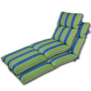 Channeled Reversible Indoor Outdoor Chaise Lounge Cushion Set Of 2