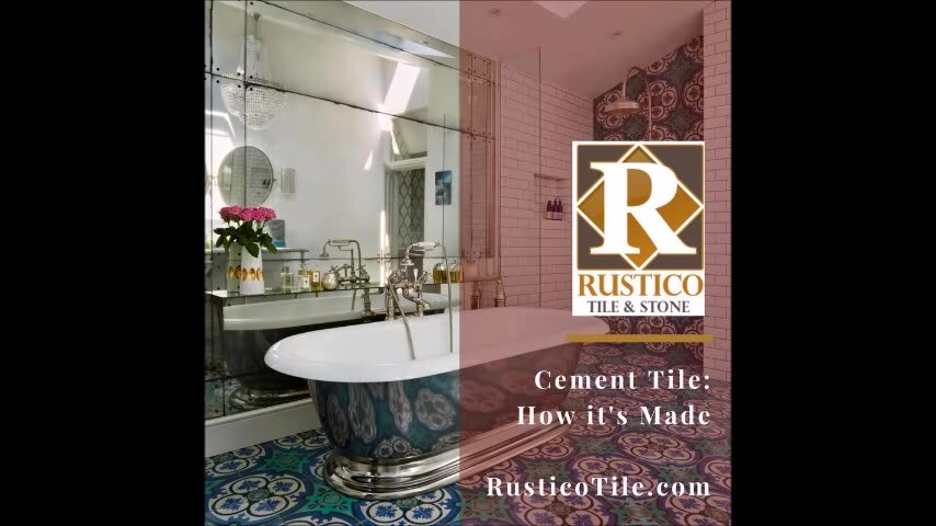 Rustico Tile Stone Casablanca Encaustic 8 X Cement Field Patterned In Black Turquoise Reviews Wayfair