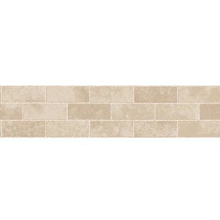 163 X 59 Stone Tile Peel And Stick Border Wallpaper Set Of 2