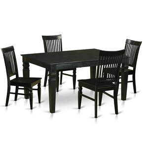 Pennington 5 Piece Wood Dining Set