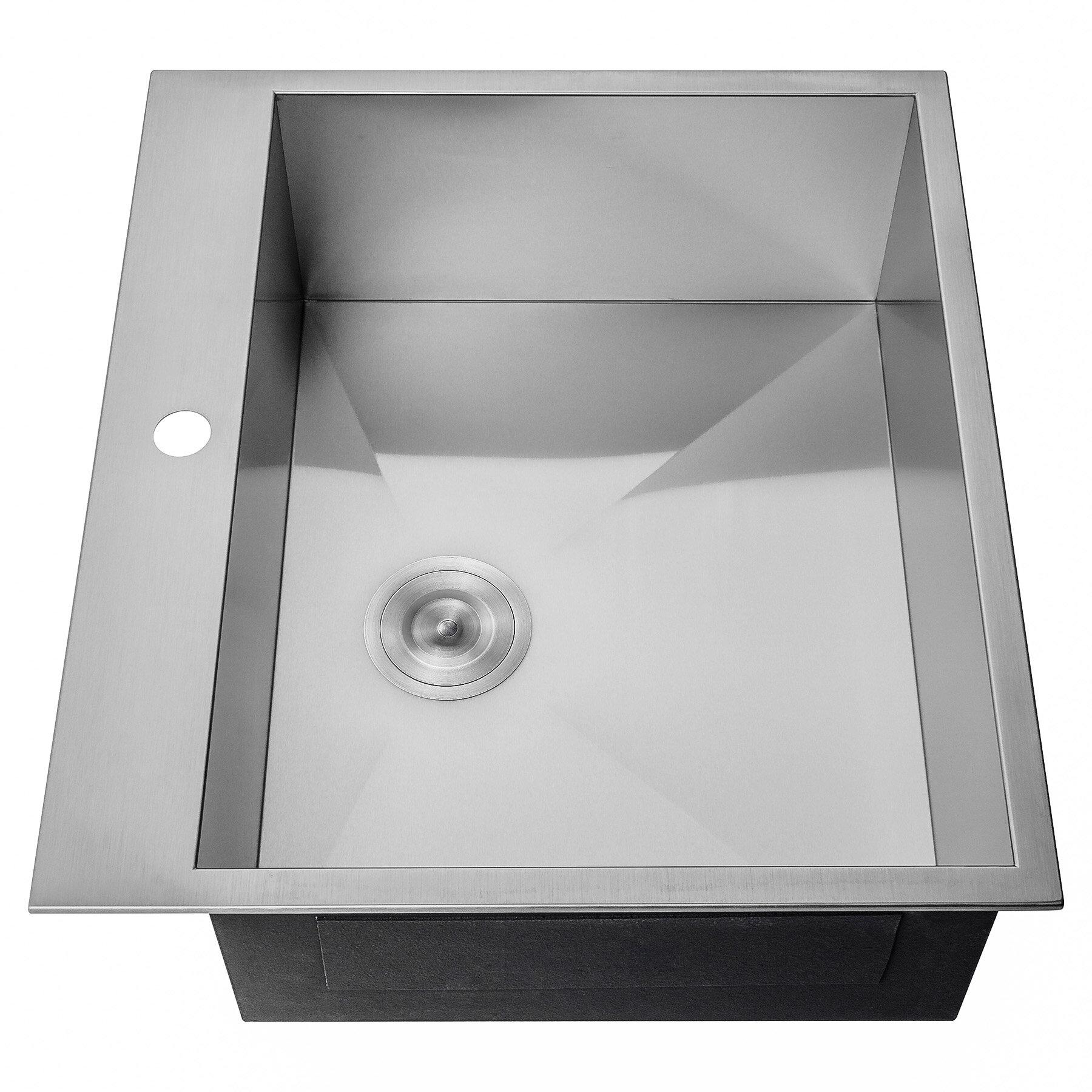 Akdy 25 x 22 drop in kitchen sink reviews wayfair
