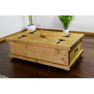 Curwood Rustic Coffee Table With Storage ...  sc 1 th 225 & Curwood Rustic Coffee Table With Storage By Brick u0026 Barrow | Lowest ...