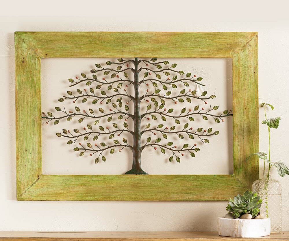 Wind & Weather Framed Metal Tree of Life Wall Décor & Reviews | Wayfair