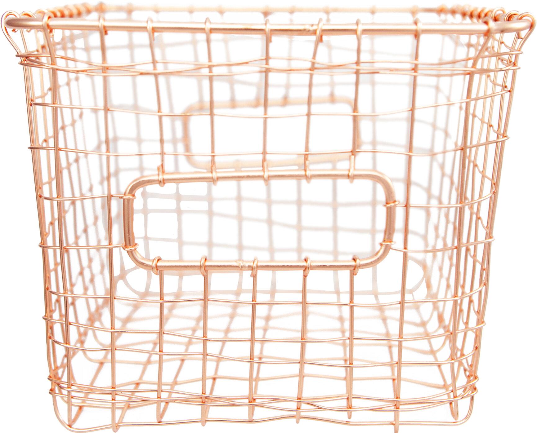 Alchemade Copper Wire Basket & Reviews | Wayfair