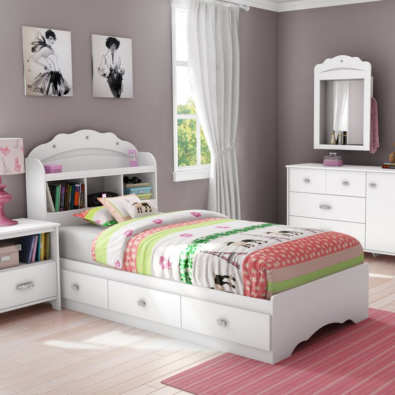 Fun Bedroom Chairs Bedroom Furniture Grey The Bedroom Bed Bedroom Vertical Blinds: South Shore Tiara Twin Mate's Bed With Storage And
