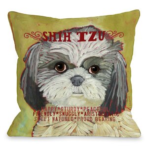 Doggy Du00e9cor Shih Tzu Throw Pillow