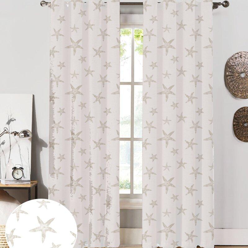 Amazing Starfish Curtain Panels