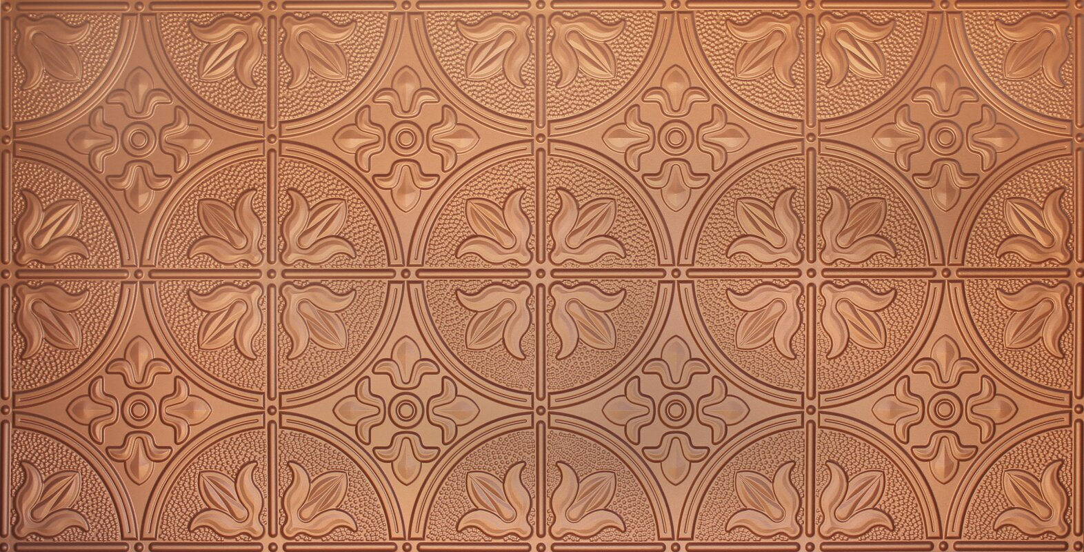 Glue Up Traditional 2 X 4 Tin Ceiling Tile In Copper