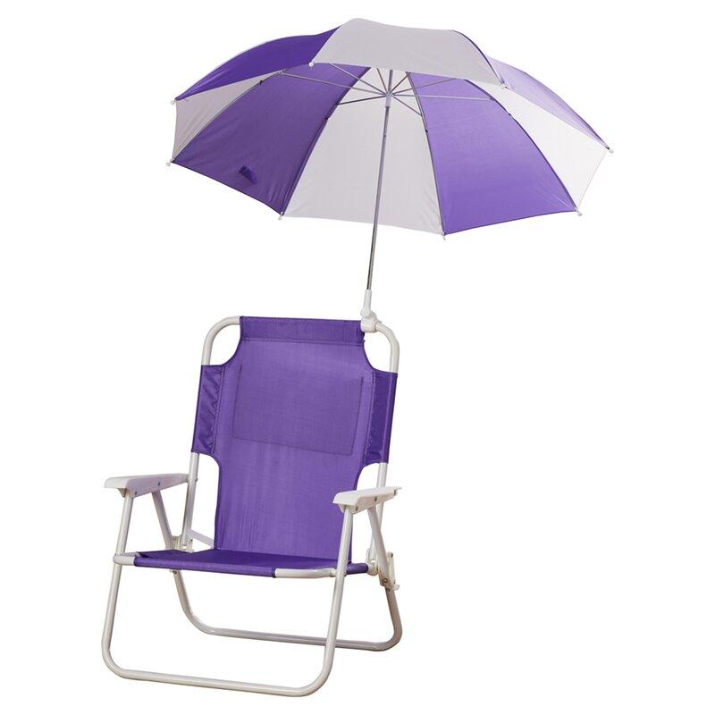 zoomie kids alexus umbrella kids beach chair & reviews | wayfair