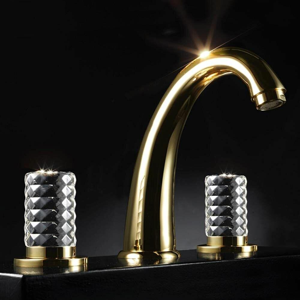 MaestroBath Kyros 3 Hole Luxury Double Handle Widespread Bathroom ...