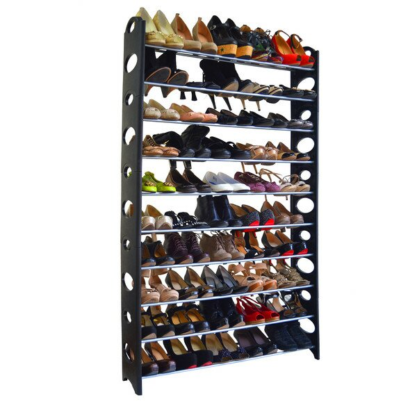 Rebrilliant 10-Tier 50 Pair Shoe Rack & Reviews | Wayfair